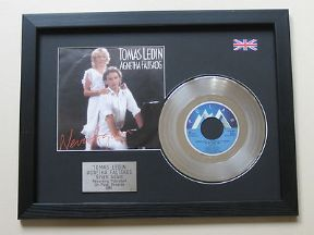 "AGNETHA FALTSKOG TOMAS LEDIN - Never Again 7"" Platinum Disc with Cover"